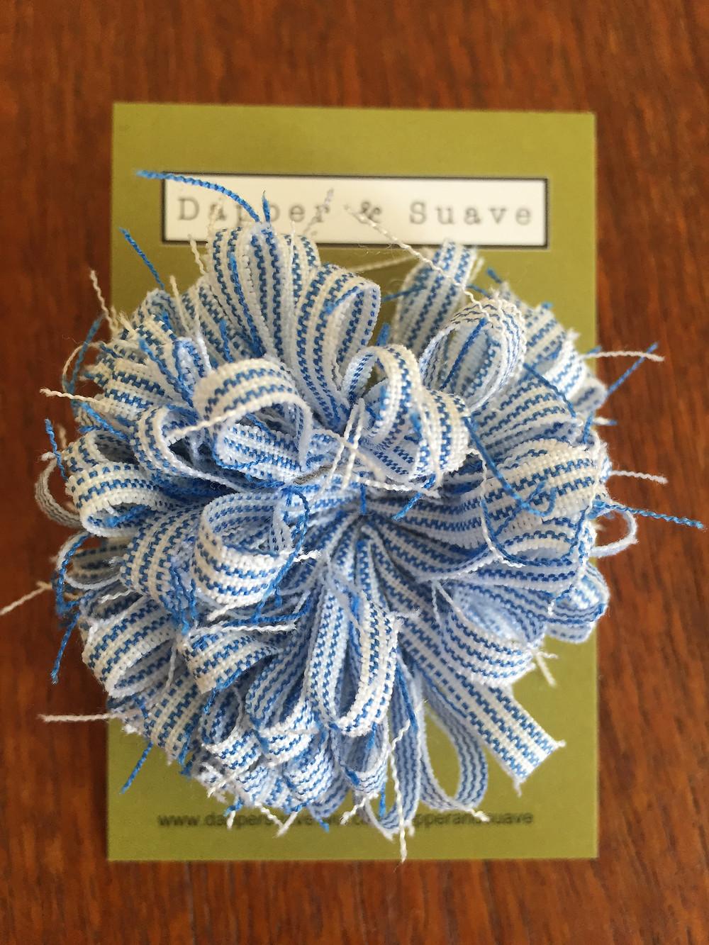 Dapper & Suave Blue Stripe Lapel Pin