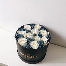 Hana box in blue baby breath 🌑__#teamro