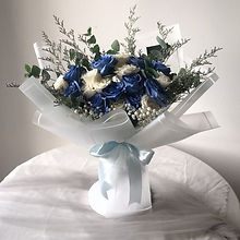 French Blue & White Merry