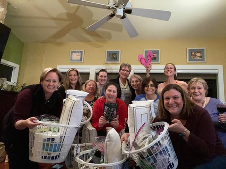 Black Sheep Book Club, Palmetto, Florida with gift baskets for HOPE Family Services!
