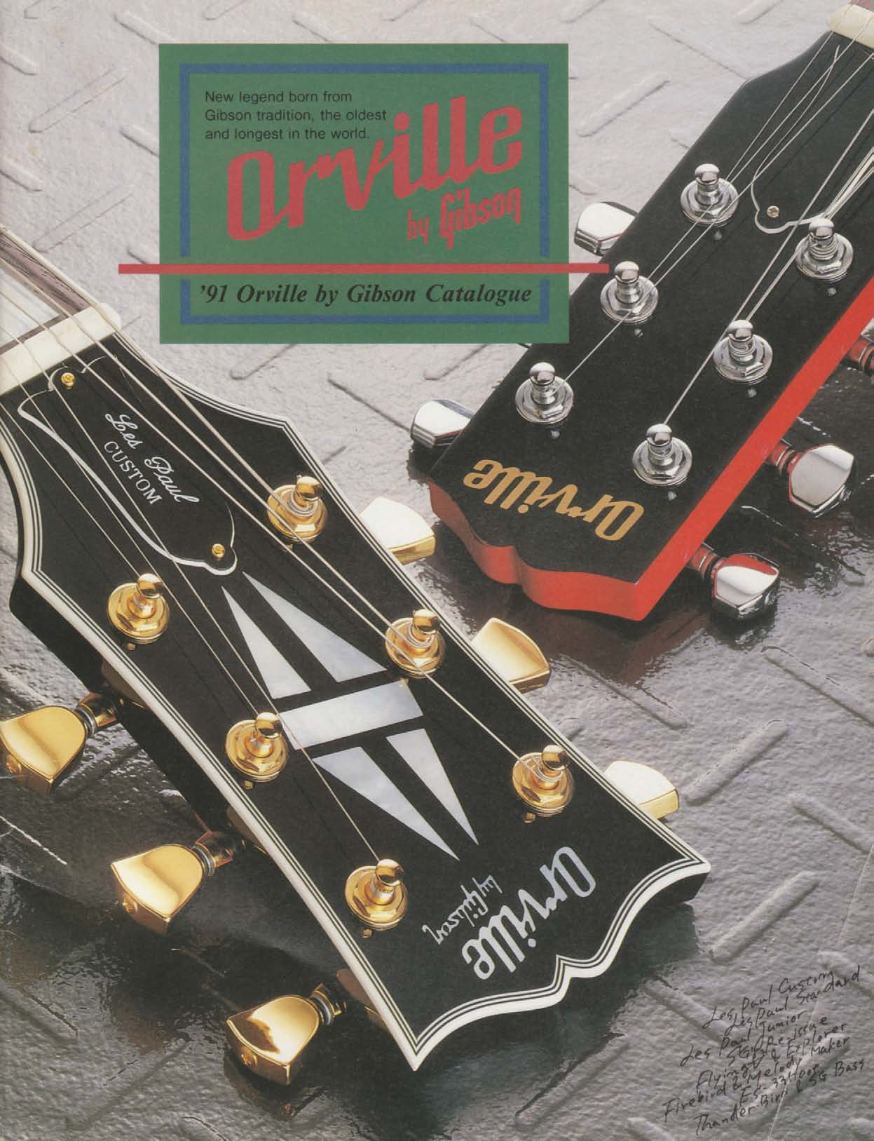 Catalogue Orville By Gibson 1991