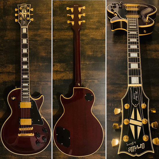 Orville by Gibson - Les Paul Custom - Redwine - 1990