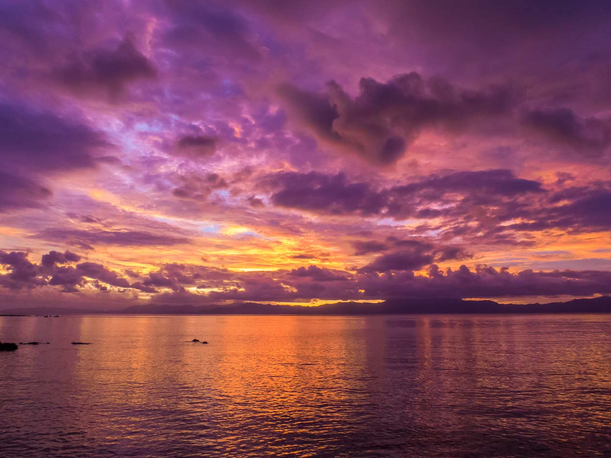 Amazing sunset, Natewa Bay, Fiji