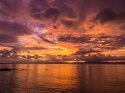 Amazing sunset, Natewa Bay, Fiji