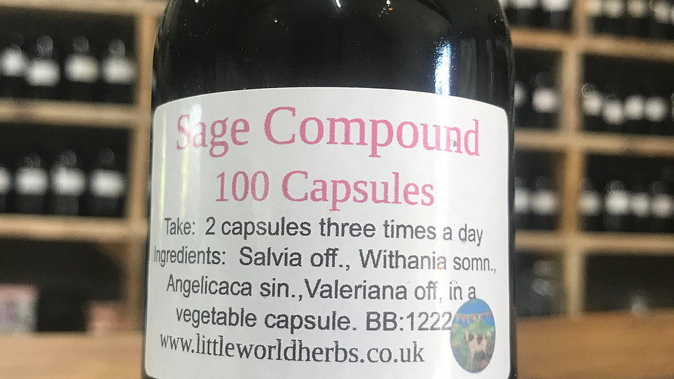 Sage Compound Capsules x 100