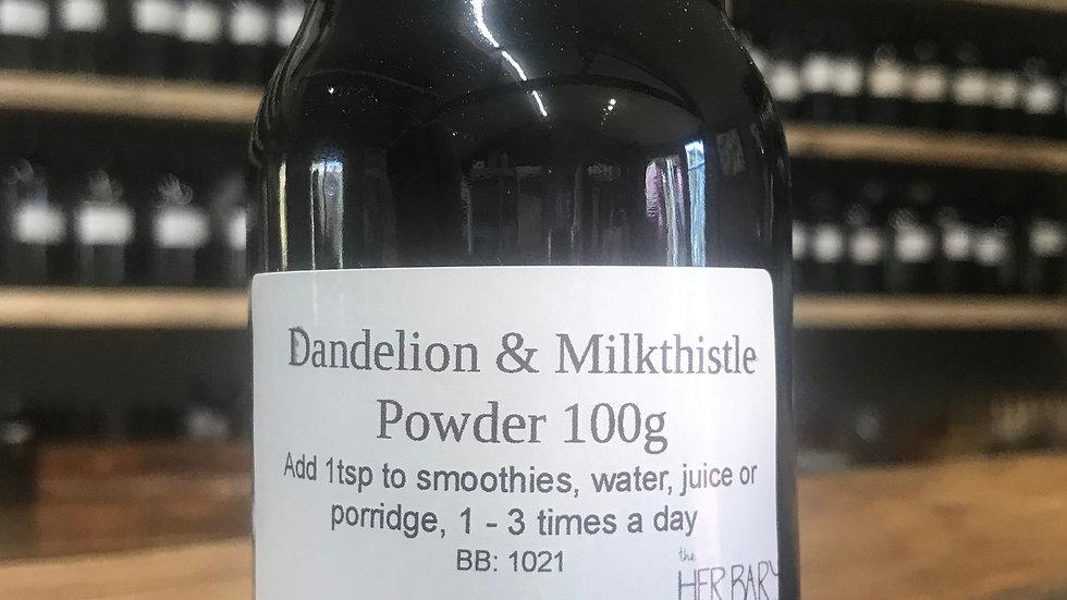 Dandelion & Milkthistle Powder 100g