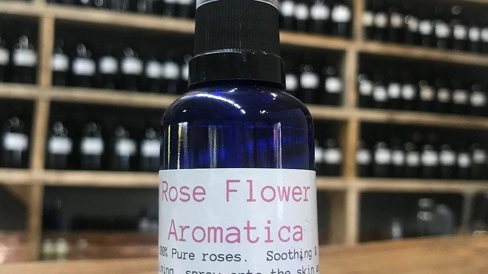 Rose Facial mist - 50ml spray, blue glass bottle