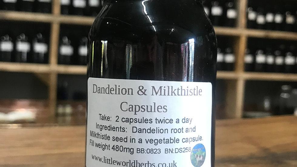 Dandelion & Milkthistle Capsules x 100