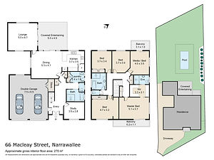 Niche Photographics, Mollymook Floor & Site Plans