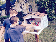 Boo at The Little Library