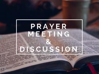 NEW! Wed. Night Prayer Meeting