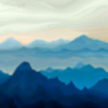 ЛУЧШЕ ГОР ТОЛЬКО ДЕВУШКИ | Василий Сидорин | Волнизм | Купить пейзаж | купить картину в москве