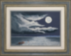 Лунная дорожка | moonlight sea view | Barry Wood | Барри Вуд | seascape | marine landscape | Морской пейзаж | art.vin | Artmagic | Артмагия