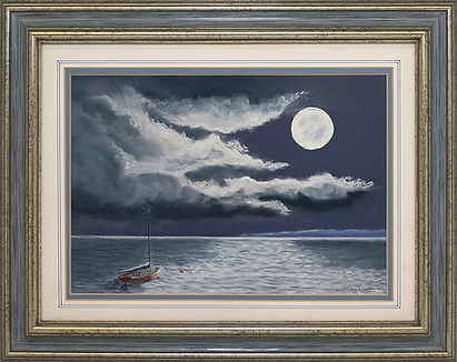 Лунная дорожка | moonlight sea view | Barry Wood | Барри Вуд | seascape | marine landscape | Морской пейзаж | art.vin | Artmagic | Артмагия