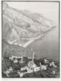 Равелло и побережье Амальфи   Ravello and the Amalfi coast   Мауриц Эшер   M.C. Esher   Landscape   пейзаж   art.vin   Artmagic   Артмагия