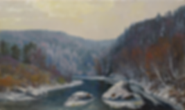 начало зимы | купить подарок | картина с пейзажем | Алексей Петриков | Alex Petrikov | Landscape | пейзаж | природа | art.vin | Artmagic | Артмагия