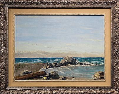 Морское побережье | Landscape Marine Painting qqoo | 1956 | Houston |  Хьюстон | seascape | marine landscape | Морской пейзаж | art.vin | Artmagic | Артмагия