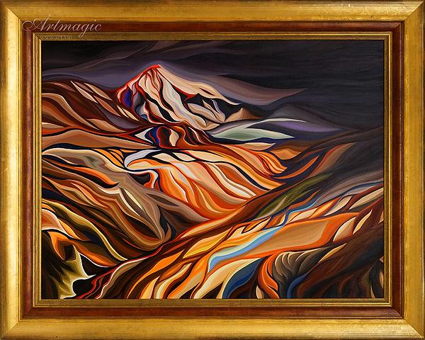 Василий Сидорин | горы исландии огонь и лед | Artmagic | Артмагия | art.vin