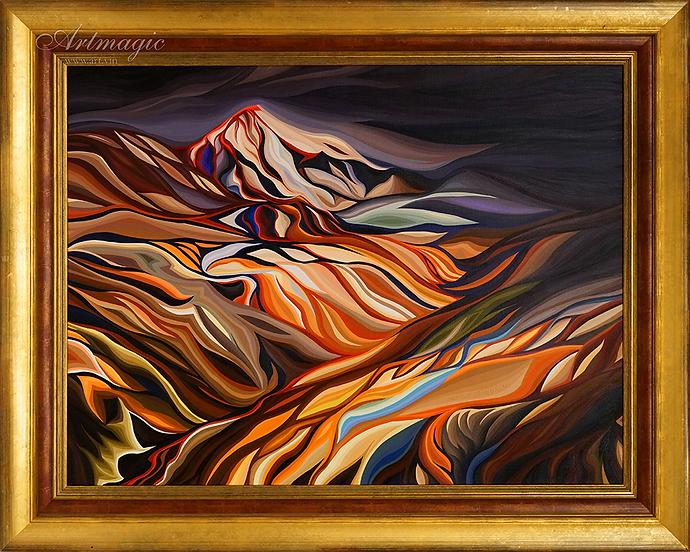 исландия - огонь и лед | Василий Сидорин | VASILY SIDORIN | картина маслом | sidorin.info | Artmagic