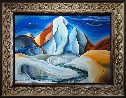 здесь вам не равнина | василий сидорин | волнизм | | Артмагия | пейзаж | купить картину в москве | купить картину | art | art gallery | artvin | Artmagic