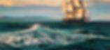 След Дианы  | Крестовоздвиженский | морской пейзаж | купить картину море | волны | Артмагия | Artmagic | seascape | vave | art.vin