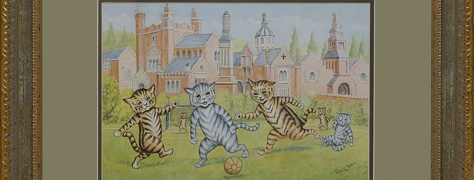 """CATS PLAYING FOOTBALL"""
