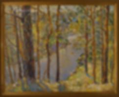 На высоком берегу  | Антон Колоколов | пейзаж | работы художника | кпить картину в Москве | Artmagic | Артмгия | artvin