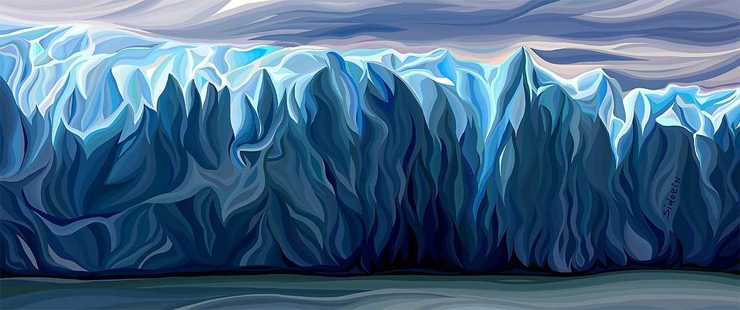 Айсберг   iceberg   Василий Сидорин   VASILY SIDORIN   картина маслом   в багете   sidorin.info