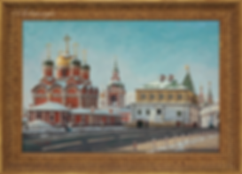 Варварка  | Москва Кремль  | пейзаж | работы художника | кпить картину в Москве | Artmagic | Артмгия | artvin
