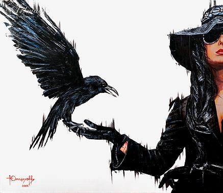 ворон  | ТИМУР Юмадилов | Timur Umadilov | Landscape | абстракция | art.vin | Artmagic | Артмагия