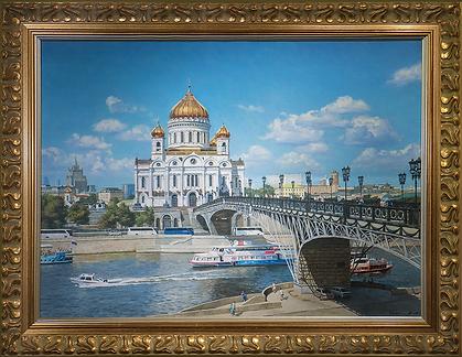 Храм Христа Спасителя | Владимир Чёрный | Виды Москвы | art.vin | Artmagic | Артмагия