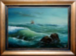Свежий ветер | Сергей Лим | художник-маринист | купить морской пейзаж | купить картину маслом | купить картину с морем | Артмагия | Artmagic | artvin