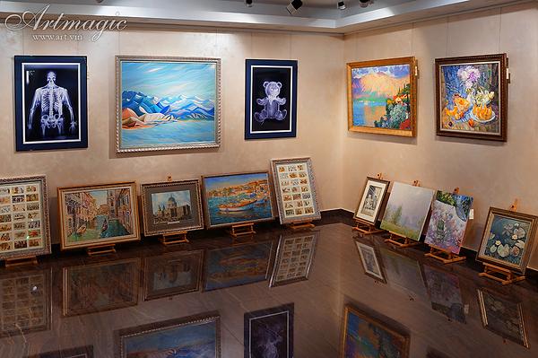 там где нас нет | Василий Сидорин | Волнизм | Купить пейзаж | купить картину в москве | картина в интерьере