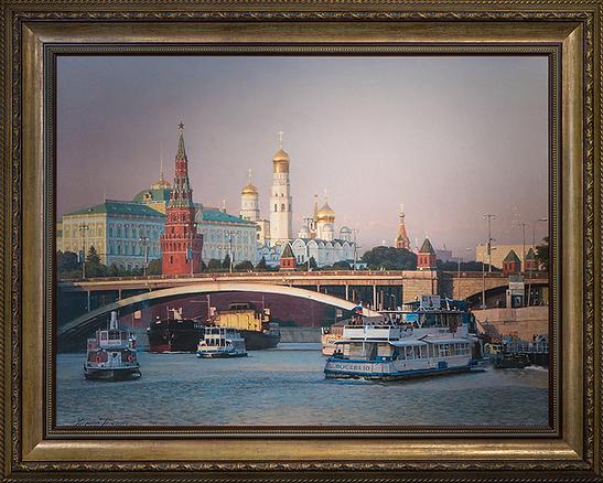 Москва злотоглавая | Чёрный | | Артмагия | пейзаж | купить картину в москве | купить картину | art | art gallery | artvin | Artmagic