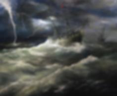 Гнев Пойседона | Сергей Дорофеев | морской пейзаж | купить картину маслом | Купить морской пейзаж | Артмагия | Artmagic | art.vin
