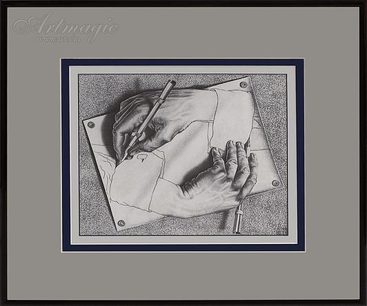 Рисующие руки | Мауриц Эшер | M.C. Esher | art.vin | Artmagic | Артмагия