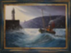 Брикстонский траулер | Brixham trawler | Allen Gordon | Ален Гордон | seascape | marine landscape | Морской пейзаж | art.vin | Artmagic | Артмагия