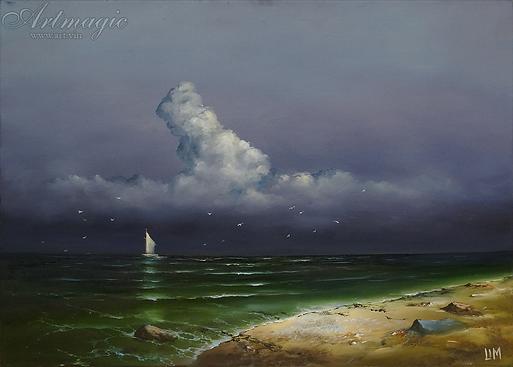 Берег моря | Сергей Лим | художник-маринист | купить морской пейзаж | купить картину маслом | купить картину с морем | Артмагия | Artmagic | artvin