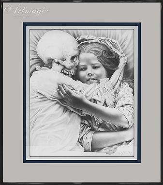 девочка и смерть | Лори Липтон | Laurie Lipton | artmagic | art.vin | Артмагия