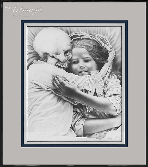 Смерть и девочка  | Death and the Maiden  | Лори Липтон | Laurie Lipton | art.vin | Artmagic | Артмагия