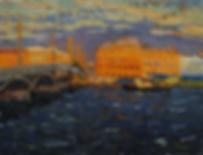 Вечер на набережной | Санкт-Петербург | Дмитрий Сысоев | Dmitry Sysoev | Landscape | пейзаж | art.vin | Artmagic | Артмагия