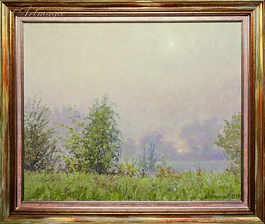 седой туман | пейзаж импрессионизм | Дмитрий Сысоев | Dmitry Sysoev | Landscape | пейзаж | art.vin | Artmagic | Артмагия