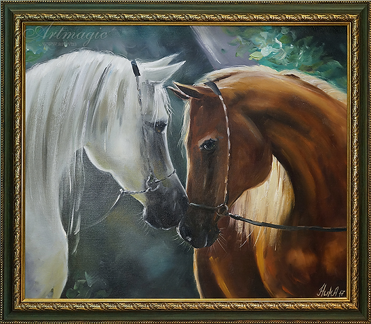 Лошади | Кони | Анна Никифорова | Anna Nikiforova | Still life | Натюрморт | art.vin | Artmagic | Артмагия