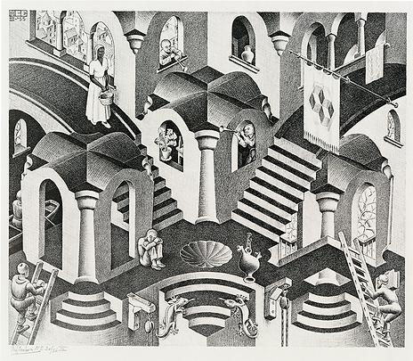 Выпуклое и гонутое | Мауриц Эшер | M.C. Esher | art.vin | Artmagic | Артмагия
