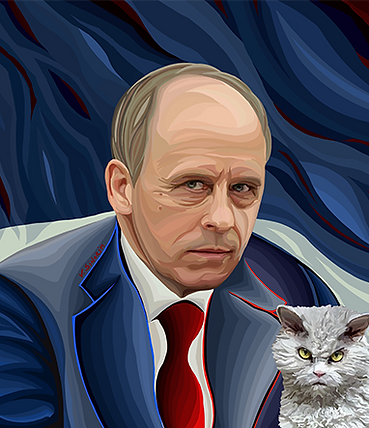 Бортников и котик | юмор | humor | Василий Сидорин | VASILY SIDORIN | sidorin.info | Artmagic