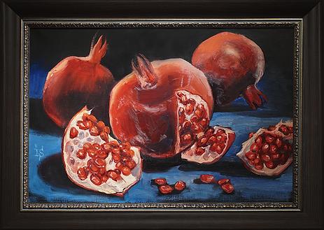 Красные короли | гранаты | Ирина Сергеева | Irina Sergeeva | Still life | Натюрморт | art.vin | Artmagic | Артмагия