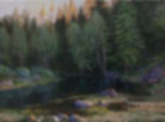 Вечереет | картина с пейзажем | Алексей Петриков | Alex Petrikov | Landscape | пейзаж | природа | art.vin | Artmagic | Артмагия