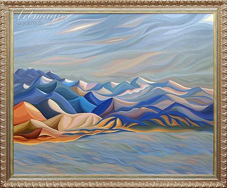 МОНЕ ОТДЫХАЕТ | Василий Сидорин | Волнизм | Купить пейзаж | купить картину в москве