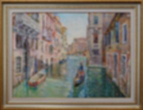 по каналам Венеции | Антон Колоколов | пейзаж | работы художника | кпить картину в Москве | Artmagic | Артмгия | artvin