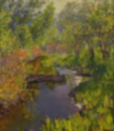 Солнце над речкой   Природа в живописи   Дмитрий Сысоев   Dmitry Sysoev   Landscape   пейзаж   art.vin   Artmagic   Артмагия